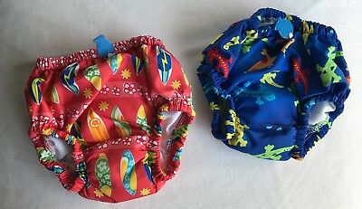 iPlay Baby Boy Swim Diapers, Size Small (6 months) Set of 2, Never worn!