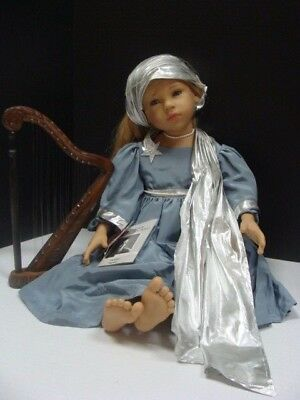 "Gotz Goetz Germany 1996 25"" Doll Michelina Christmas Angel Harp Lindner Nib Tags"
