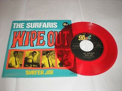 "Surfaris Wipe Out / Surfer Joe (Long Versions) RED Vinyl RSD 7"" 45 rpm NEW in PS"