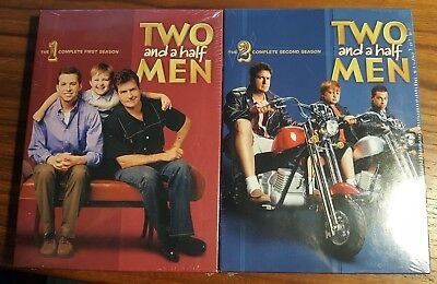 Two and a Half Men COMPLETE  First & Second Season 1 & 2 DVD New Factory Sealed