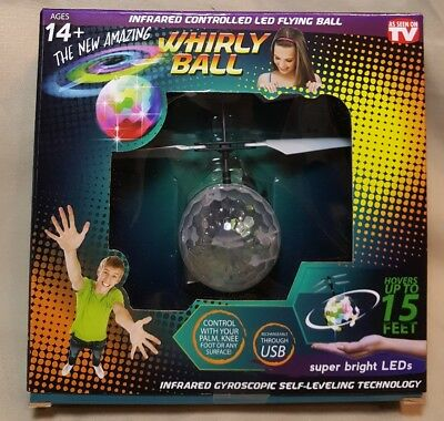 Whirly Ball Infrared Controlled LED Hovering Ballb~ As Seen On T.V. ~ NEW/SEALED