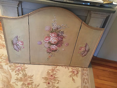 Vintage - Beautiful - Antique - Wood Panel Screen w/ Flowers from the 1920s