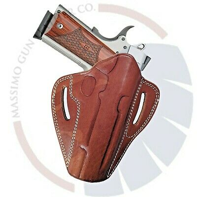 """Fits Colt 1911 5""""_OWB Butterfly Pancake Concealed Carry Leather Belt Holster"""