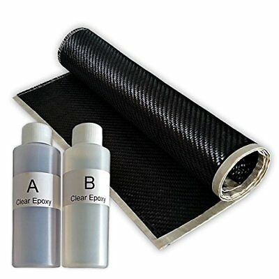 "**REAL** 2x2 Twill 3K 5.7 oz Carbon Fiber Epoxy Resin Kit - 2x2 Twill 36"" x 6"""