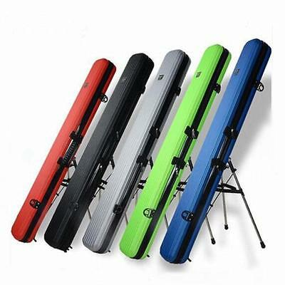 Removable Fishing Rod Tackle Hard ABS Case Bag Carry Holder Luggage 125cm UK