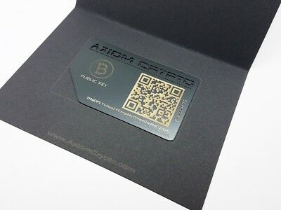 Bitcoin Cash Offline Cold Wallet Secure Metal Card Storage Card AxiomCrypto BCH