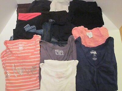 Large Lot 14 Maternity Clothes Sz XL L Motherhood Maternity Liz Lange Pants Tops