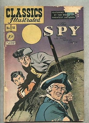 Classics Illustrated #51-1948 gd- 1st edition Cooper The Spy