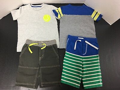 Mini Boden Boy's Lot Two Pairs Size 3 Shorts Two 4/5 Shirts