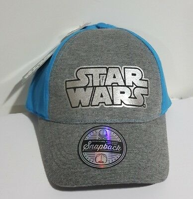 meet 6d12a f52fe Star Wars Blue Grey Kids Snapback Hat Grey Adjustable One Size Baseball Cap