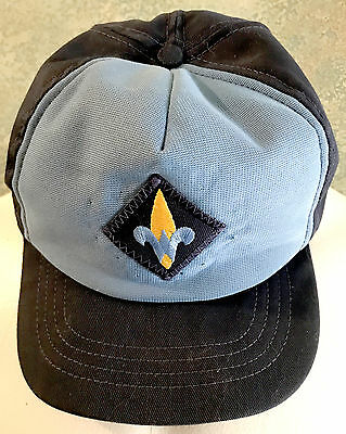 Vintage Blue Cub Scout Webelos Ball Cap Size Small Medium Adjustable BSA
