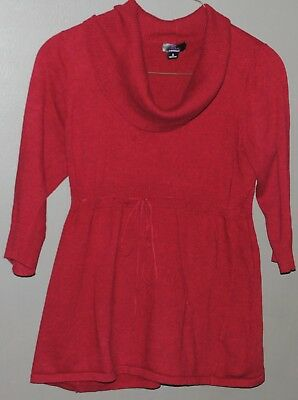 Oh Baby By Motherhood Red Cowl Neck Maternity Sweater Size Large