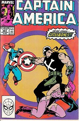 Captain America #363 [Nov.1989] Marvel Comics - FN- [Wolverine Cameo]
