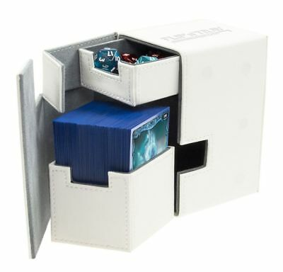 Ultimate Guard - Flip'n'Tray Xenoskin Deck Case 100+ White - Gaming Card Boxing