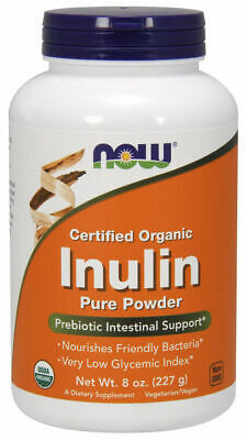 Now Foods Inulin Powder 227g, Certified Organic, Prebiotic Intestinal Support