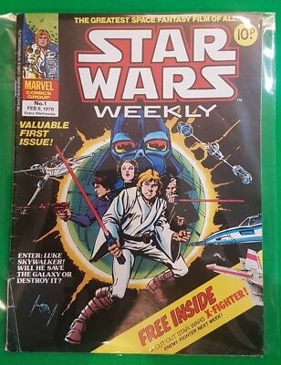 Star Wars Weekly ***RARE - ISSUE #1!!*** Marvel UK 1978 Comic - No Free Gift