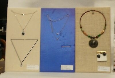 LOT of FOUR Necklace Variety Bundle New Old Stock Display Closeout