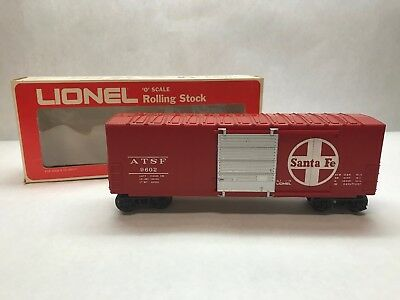 Vintage LIONEL O Scale ROLLING STOCK Santa Fe HI-CUBE Box Car 6-9602 With Box