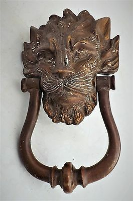 Georgian door's Knocker bronze Lion's head