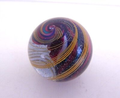 """Vintage Twisted Six Color Core Glass Marble 1 5/8"""""""