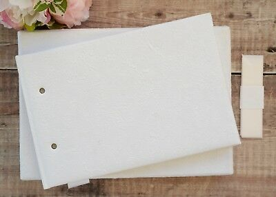 White Handmade Paper Guest Book. DIY Guest Book. Blank Guest Book. 40 pages.
