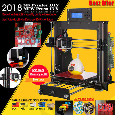 DE A8 3D Printer DIY i3 Upgradest High Precision Reprap Prusa 3d Drucker