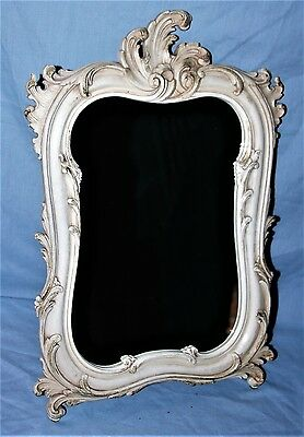 Ornate Painted Easel Back or Wall Mount Vintage Mirror Shabby Cottage Chic