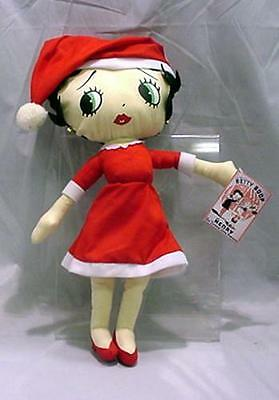 "Christmas Betty Boop Plush Doll - 16"" Santa - 2005 by BCompany with Tag"