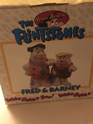 The Flintstones Salt and Pepper Shakers. New in box