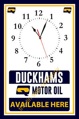 Duckhams Motor Oil Wall Clock. Makes A Great Gift For Any Mechanic, Workshop Etc
