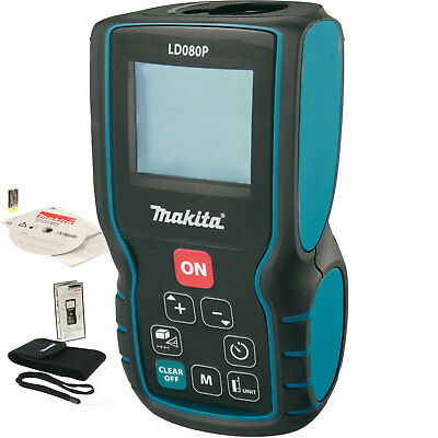 Makita LD080P 262' Laser Distance Measure Battery Operated 635 nm Class II New