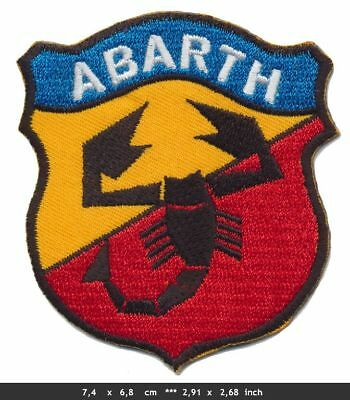 ABARTH CLASSIC Aufnäher Aufbügler Patch Auto Fiat Lancia Tuning Italien Italy