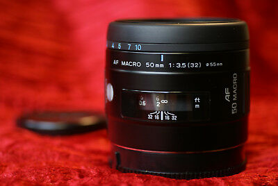 Minolta 50mm Auto Focus MACRO Portrait Lens - For Sony AF A55 A65 A77 A390 A500