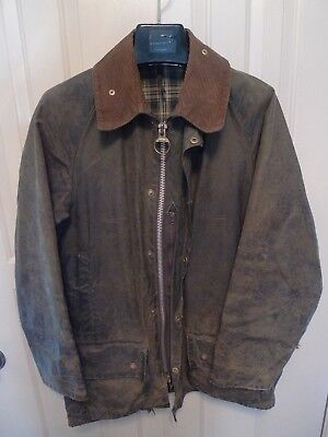 Barbour - A150 Beaufort Waxed Cotton Jacket-Sage-Made@ Uk-Shabby Chic--34