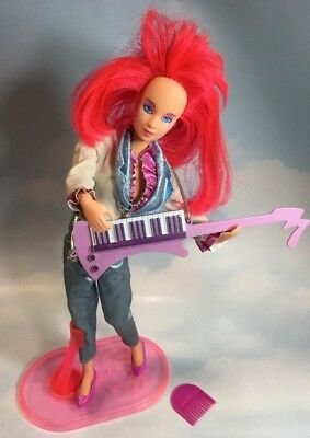 Jem and the Holograms KIMBER doll, clothes, shoes, stand, keytar vintage Hasbro