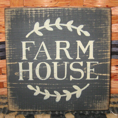 PRIMITIVE  COUNTRY FARM HOUSE mini  sq   SIGN