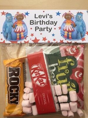10 / 6 Personalised In the night garden Themed Party Bags / Birthday / Treat