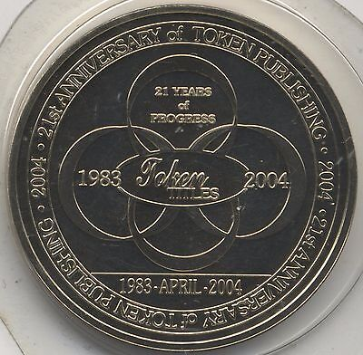 2004 Token Publishing 21st Anniversary Medal***Collectors***