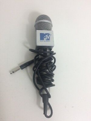 Vintage MTV Karaoke Microphone Wired Stage Music Mic Television Singing