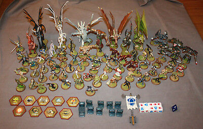 Heroscape Huge Lot Of Dragons, Heroes and Monster Figures With Cards