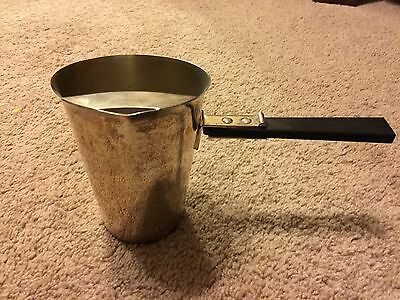 Academy England Silver On Copper Pouring Pitcher Side Handle