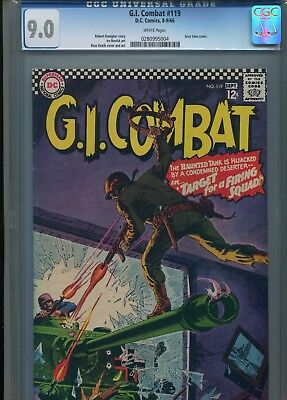 G.i. Gi Combat #119 Cgc 9.0 1966 Dc Comics Russ Heath Cover High Grade White Pgs