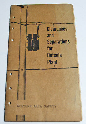 Vintage 1968 Bell Telephone Book Clearances Poles Stubs Separations