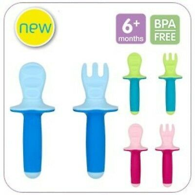 MAM Dipper Set Baby's 1st Cutlery Feeding Set 6+ Months BPA Free - Pink Blue or