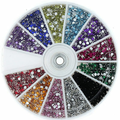 1200 rhinestone wiel Diamante Crystal Gems Nail Art kaarten 3D Tips decoratie