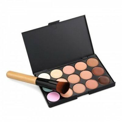 15 kleuren Concealer palet Kit gratis Brush make-up Contour gezichtscrème