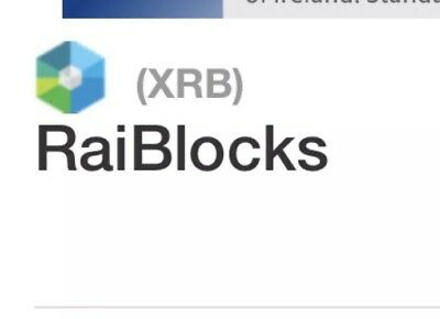 0.000010 Raiblocks (XRB) Cryptocurrency