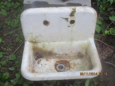 Antique Sink Cast Iron Porcelin