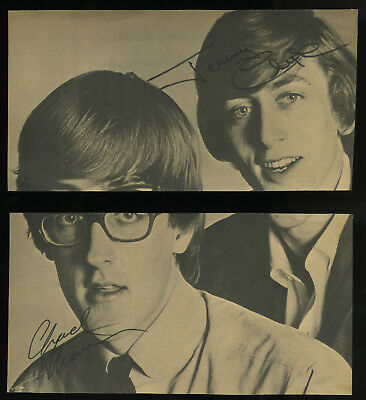 CHAD & JEREMY signed 16 Magazine page from 1965, trimmed, 1960s British Invasion