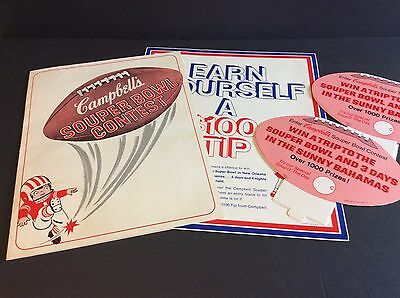 Campbell's Soup Company 1969 Sales Promo Pack SOUPER BOWL CONTEST Campbell Kids